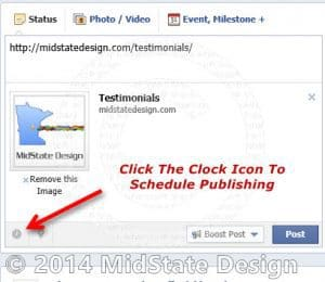 Location Of Facebook Post Scheduling Settings