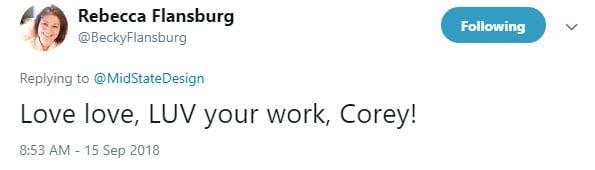 Becky Flansburg Twitter Testimonial